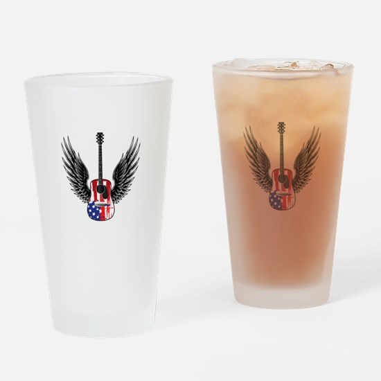 American Guitar Drinking Glass