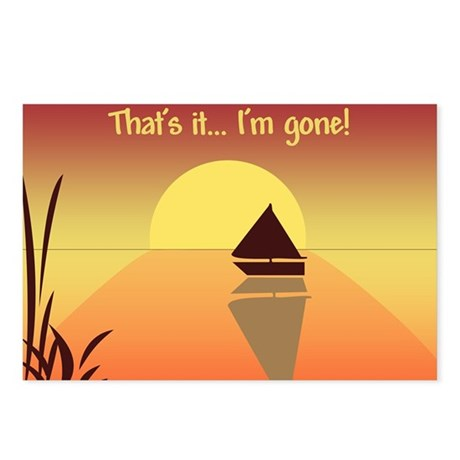 That's it, I'm gone Postcards (Package of 8)