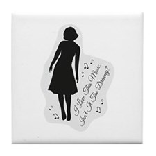 Isn't It Too Dreamy? Audrey - Twin Pe Tile Coaster