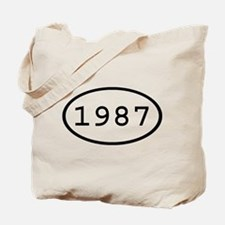 1987 Oval Tote Bag