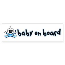 Baby Boy on Board Bumper Bumper Bumper Sticker