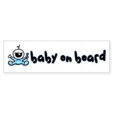 Baby Boy on Board Bumper Bumper Sticker