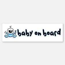 Baby Boy on Board Bumper Stickers