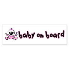 Baby Girl on Board Bumper Bumper Bumper Sticker