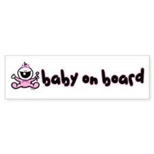 Baby Girl on Board Bumper Bumper Sticker
