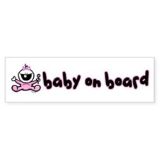 Baby Girl on Board Bumper Car Sticker