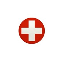 Flag of Switzerland Mini Button (10 pack)
