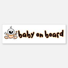 Baby on Board orange Bumper Stickers