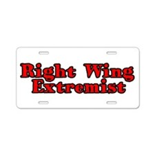 Right Wing Extremist Aluminum License Plate