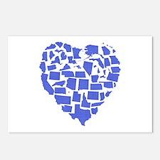 Rhode Island Heart Postcards (Package of 8)