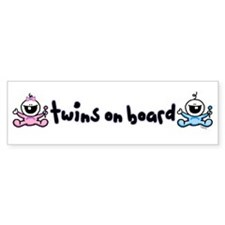 Twins on Board 2 Bumper Bumper Sticker