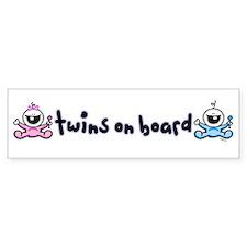 Twins on Board 2 Bumper Stickers