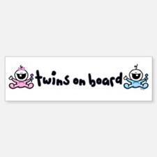 Twins on Board 2 Bumper Stickers