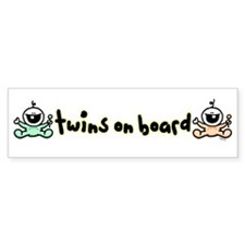Twins on Board Bumper Bumper Sticker