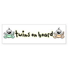 Twins on Board Bumper Stickers