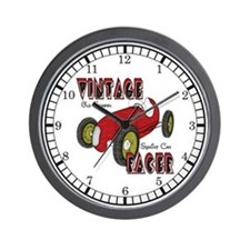 Vintage Sprint Car Racer Wall Clock