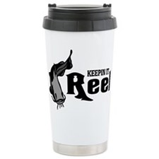Cat Fish Keepin It Reel Travel Mug