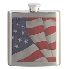 Flag Square Flask