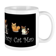 Crazy Cat Man Mugs