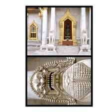 Marble Temple and Lion Postcards (Package of 8)