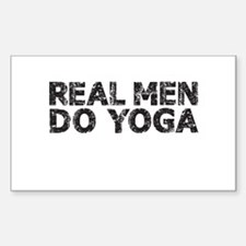 REAL MEN DO YOGA Decal