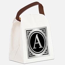 Deco Monogram A Canvas Lunch Bag