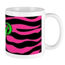 HOT PINK ZEBRA GREEN P Mugs