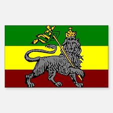 Rastafarian Flag Rectangle Decal