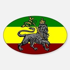 Rastafarian Flag Oval Decal