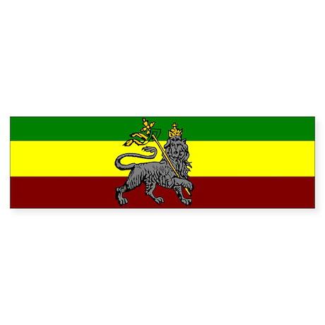 Rastafarian Flag Bumper Sticker