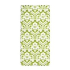 Spring Green Damask pattern Beach Towel