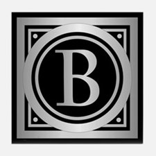 Deco Monogram B Tile Coaster
