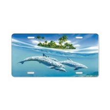 Tropical Island Fantasy Aluminum License Plate