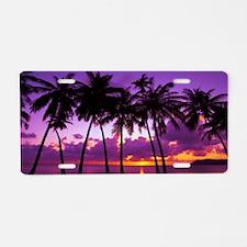Purple Tropical Sunset 2 Aluminum License Plate