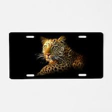 Wild Leopard Aluminum License Plate