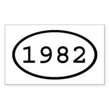 1982 Oval Rectangle Decal
