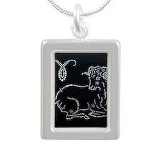 zodiak Silver Portrait Necklace