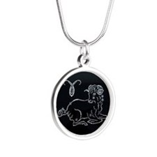 zodiak Silver Round Necklace