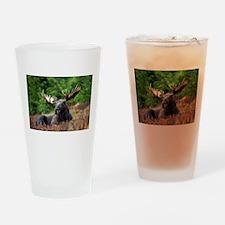 Majestic Moose Drinking Glass