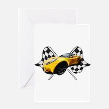 Cute Lotus racing Greeting Card