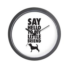 Say Hello to My Little Friend Beagle Wall Clock