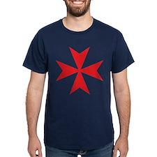 Red Maltese Cross T-Shirt