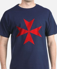 Red Maltese Cross T-Shirt