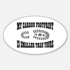 Carbon Footprint Oval Decal
