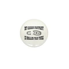 Carbon Footprint Mini Button (100 pack)