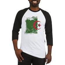 Grunge Algeria Flag Baseball Jersey