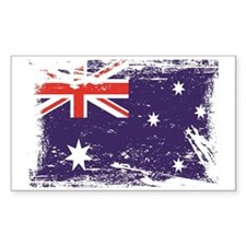 Grunge Australia Flag Decal