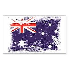 Grunge Australia Flag Stickers