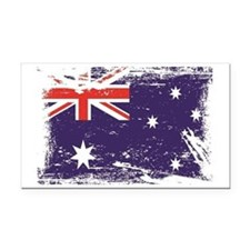 Grunge Australia Flag Rectangle Car Magnet