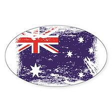 Grunge Australia Flag Decal
